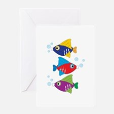 Colorful Fish Greeting Cards