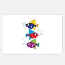 Colorful Fish Postcards (Package of 8)