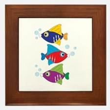 Colorful Fish Framed Tile