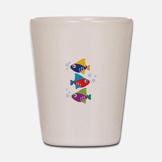 Colorful Fish Shot Glass