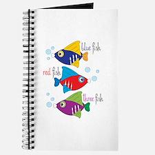 Blue Fish,Red Fish &Three Fish Journal