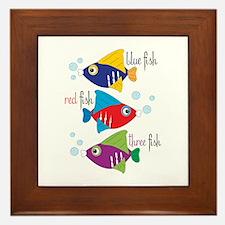 Blue Fish,Red Fish &Three Fish Framed Tile