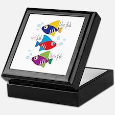 Blue Fish,Red Fish &Three Fish Keepsake Box