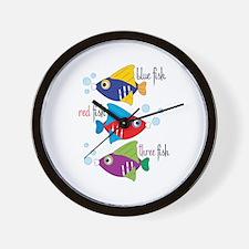 Blue Fish,Red Fish &Three Fish Wall Clock