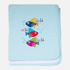 Blue Fish,Red Fish &Three Fish baby blanket