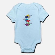 Blue Fish,Red Fish &Three Fish Body Suit