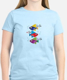 Blue Fish,Red Fish &Three Fish T-Shirt