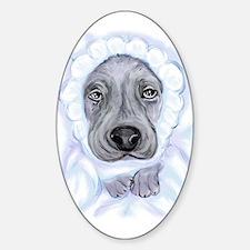 Baby Dane Blue Boy Oval Decal