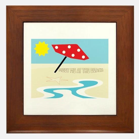 Meet Me At The Beach Framed Tile