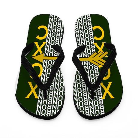 Cross Country Running Green gold Flip Flops