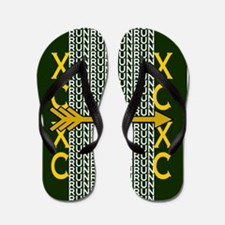 Cross Country Running Green gold Flip Flops