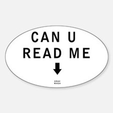 Can U Read Me - Krav Maga Decal