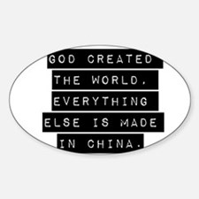God Created The World Decal