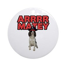 Pirate Springer Spaniel Ornament (Round)