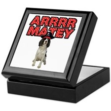 Pirate Springer Spaniel Keepsake Box