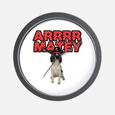 Pirate Springer Spaniel Wall Clock