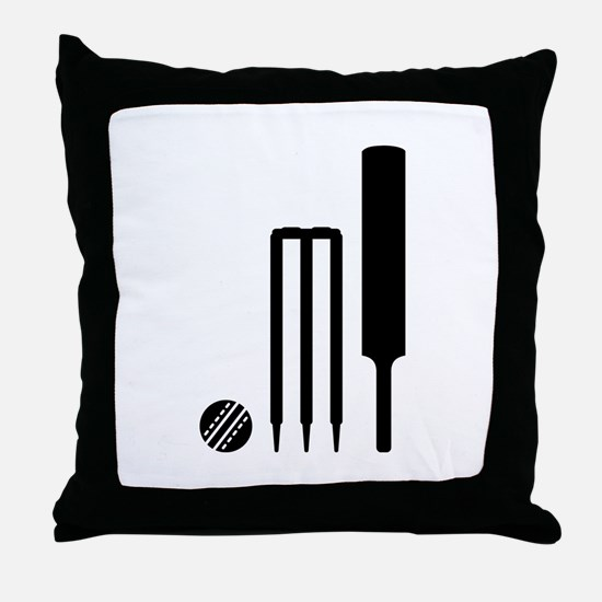 Cricket ball bat stumps Throw Pillow