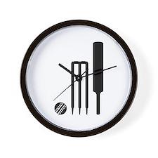 Cricket ball bat stumps Wall Clock