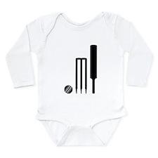 Cricket ball bat stump Long Sleeve Infant Bodysuit