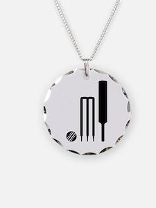 Cricket ball bat stumps Necklace