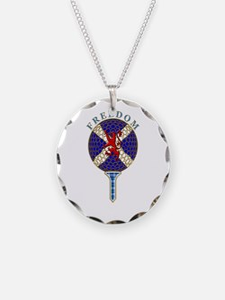 Saltire Golf Scotland Blue T Necklace