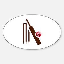Cricket bat stumps Stickers