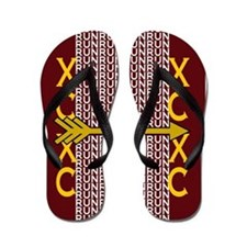 Cross Country Running Maroon Gold Flip Flops