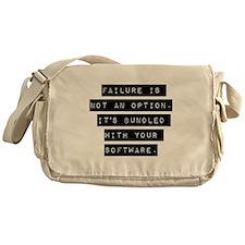 Failure Is Not An Option Messenger Bag
