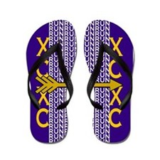 Cross Country Running Purple gold Flip Flops