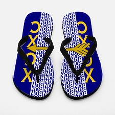 Cross Country Running blue gold Flip Flops