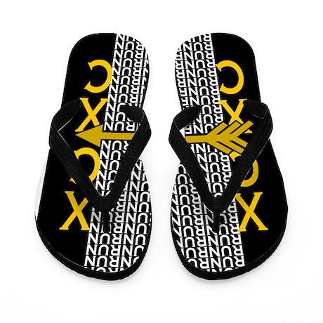 Cross Country Running black gold Flip Flops