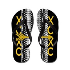 Cross Country Running black gold Flip Flops