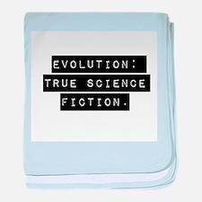 Evolution True Science Fiction baby blanket