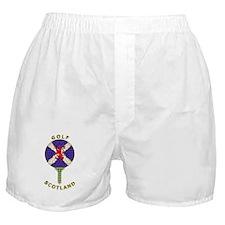 Saltire Golf Scotland Green Tartan Boxer Shorts