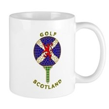 Saltire Golf Scotland Green Tartan Mug