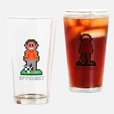Bit Soccer Orange Drinking Glass