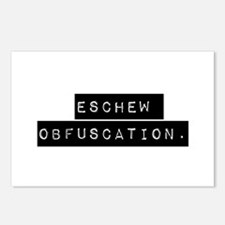 Eschew Obfuscation Postcards (Package of 8)