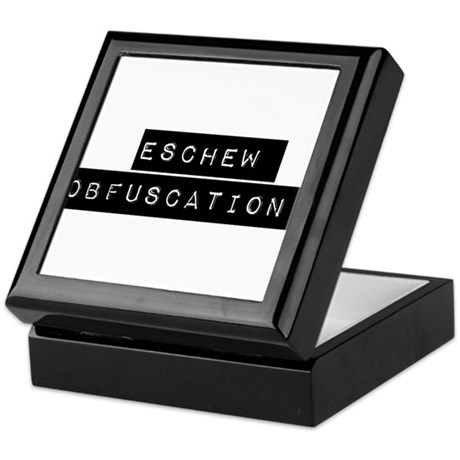 Eschew Obfuscation Keepsake Box by CODPricelessHumor