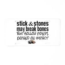 Sticks & Stones - Hollow P Aluminum License Plate