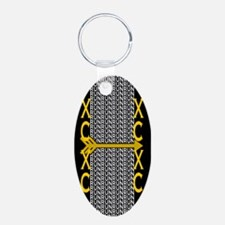 Cross Country Running black Keychains