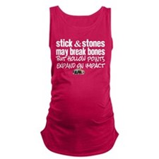 Sticks & Stones - Hollow Point Maternity Tank Top