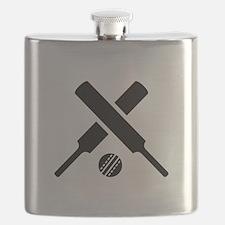 Crossed Cricket bats Flask