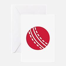 Cricket ball Greeting Card