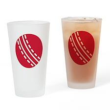 Cricket ball Drinking Glass