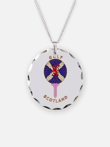 Saltire Golf Scotland Pink Necklace