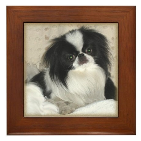 Deluxe Japanese Chin Darling Framed Tile