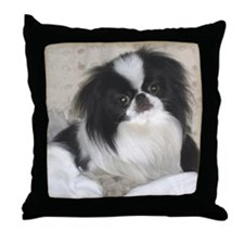 Deluxe Japanese Chin Darling Throw Pillow