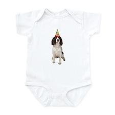 Springer Spaniel Birthday Party Infant Bodysuit