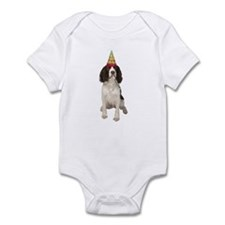 Springer Spaniel Birthday Party Infant Bodysuit