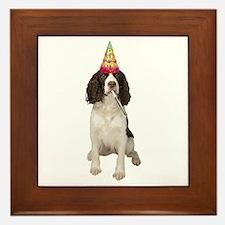 Springer Spaniel Birthday Party Framed Tile